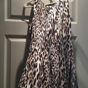 Calvin Klein cheetah print dress